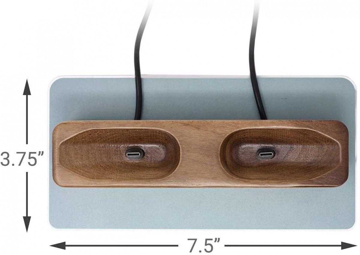 Зарядная станция + подставка Premium Wood Top для контроллеров Valve Index VR