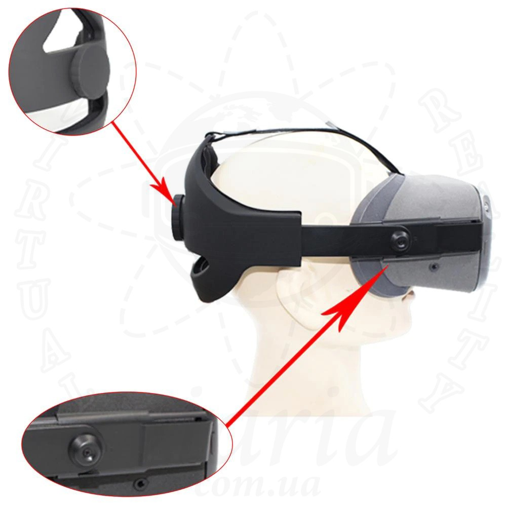 Регулируемое крепление ремень на голову для Oculus Quest (оголовье)