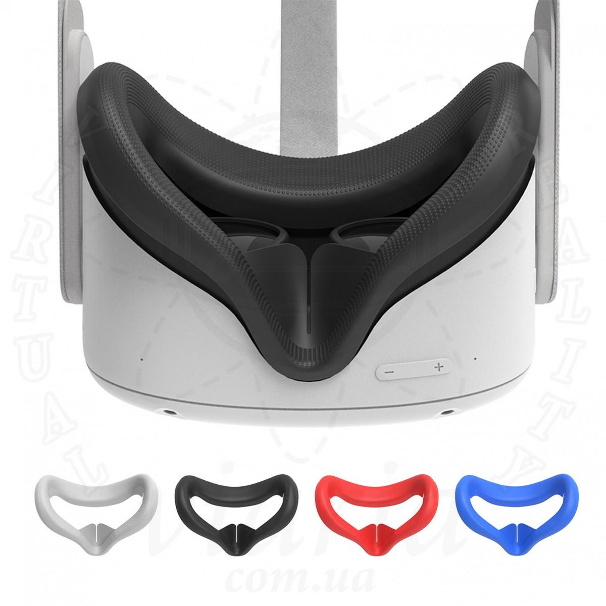 Силиконовая маска (убирает просвет) с текстурой для Oculus Quest 2