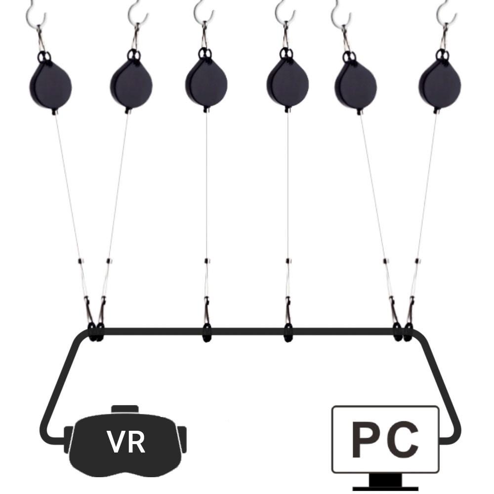 Комплект потолочных креплений кабеля очков виртуальной реальности